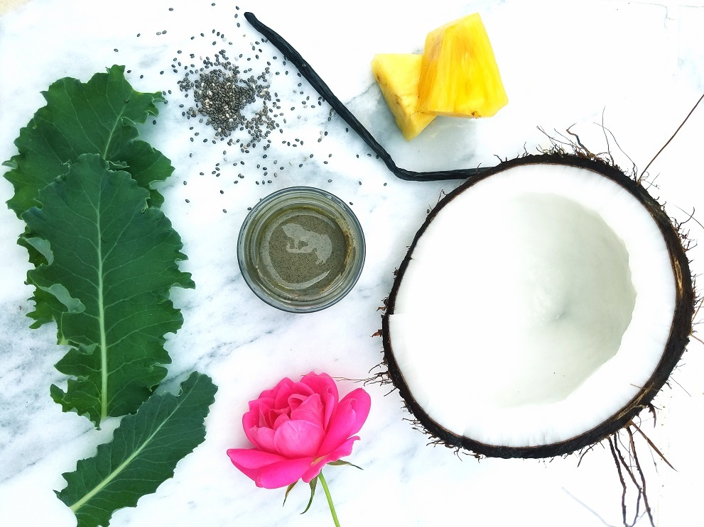 coconut water kale facial