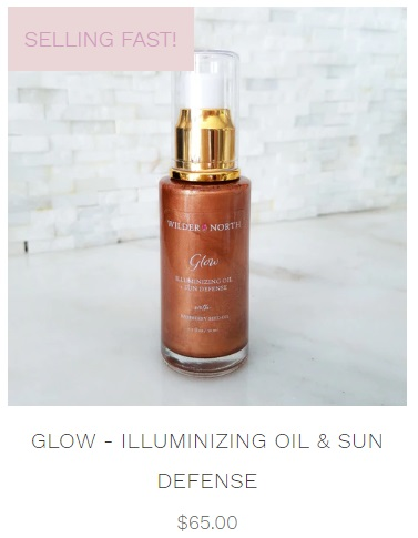 glow illuminizing oil and sun defense