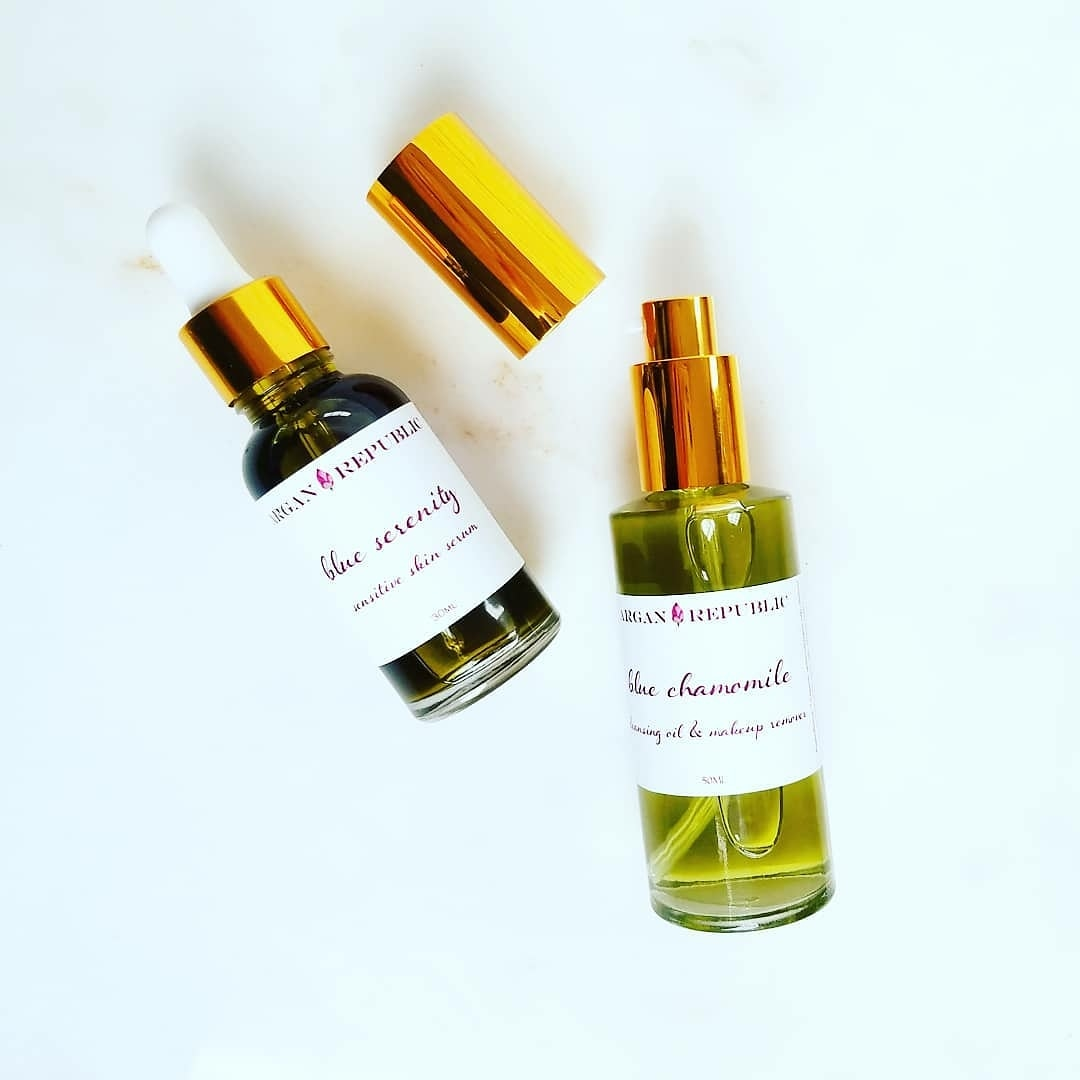 blue chamomile cleansing oil