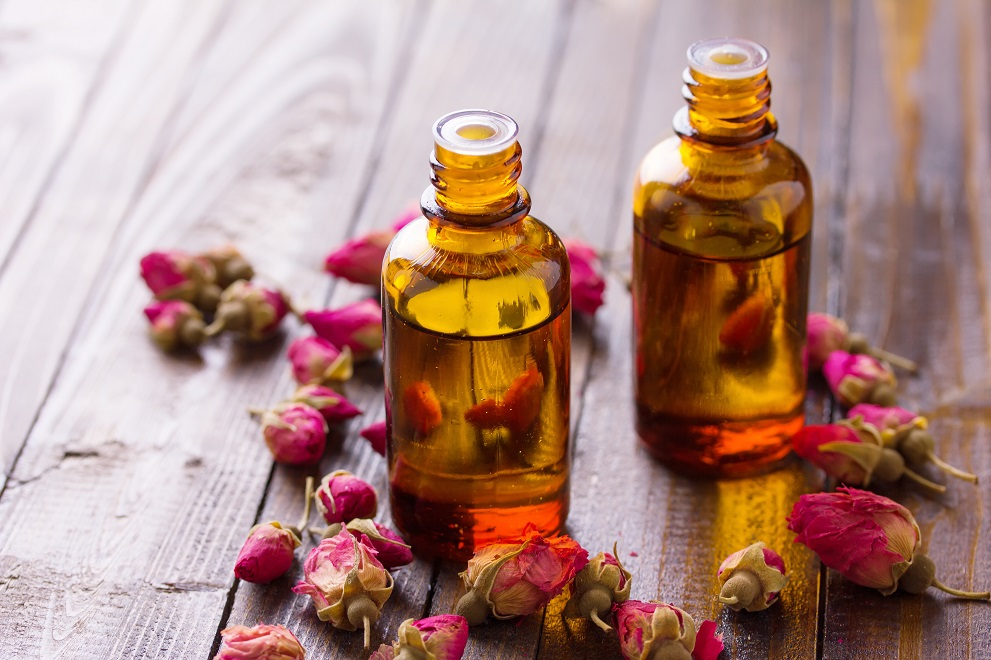 beauty oils with roses